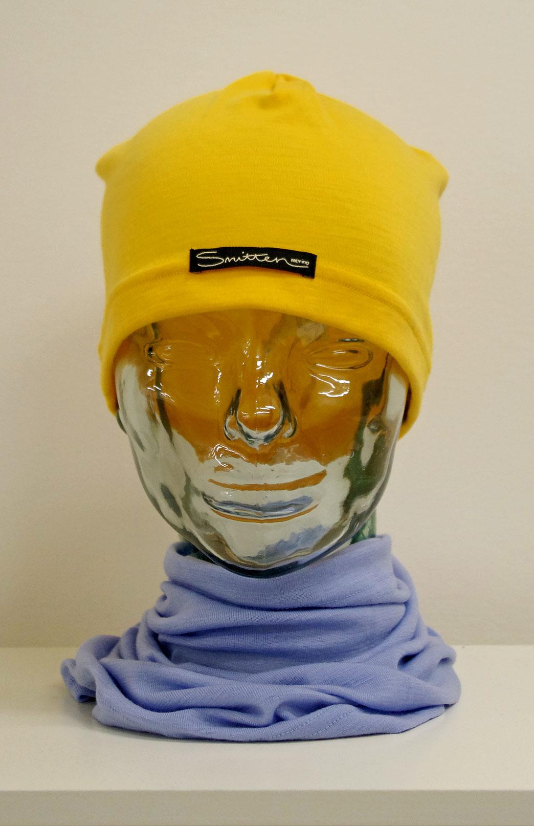Beanie - Mid-weight Loose Fit Skull Cap - Unisex Yellow Merino Wool Loose Fit Beanie Skull Cap - Smitten Merino Tasmania Australia