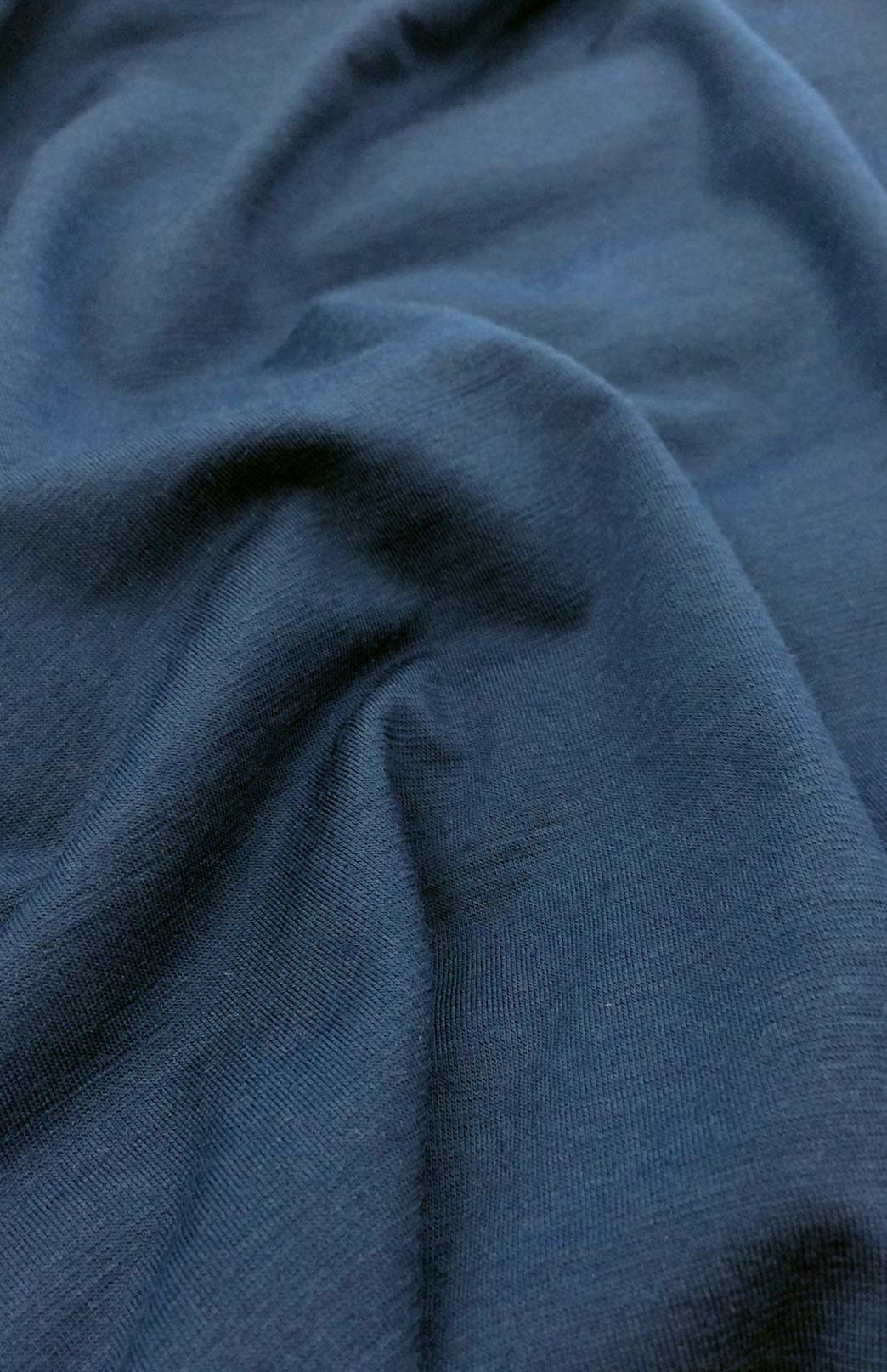 Fan Dress - Women's Merino Wool Indigo Blue Fan Dress with Empire Waistline and Flared Skirt - Smitten Merino Tasmania Australia