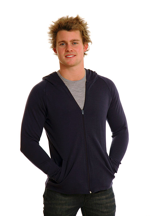 Zip Jacket with Hood - Heavyweight (~360g) - Men's 100% Merino Wool Heavy Weight Zip Jacket with Hood - Smitten Merino Tasmania Australia