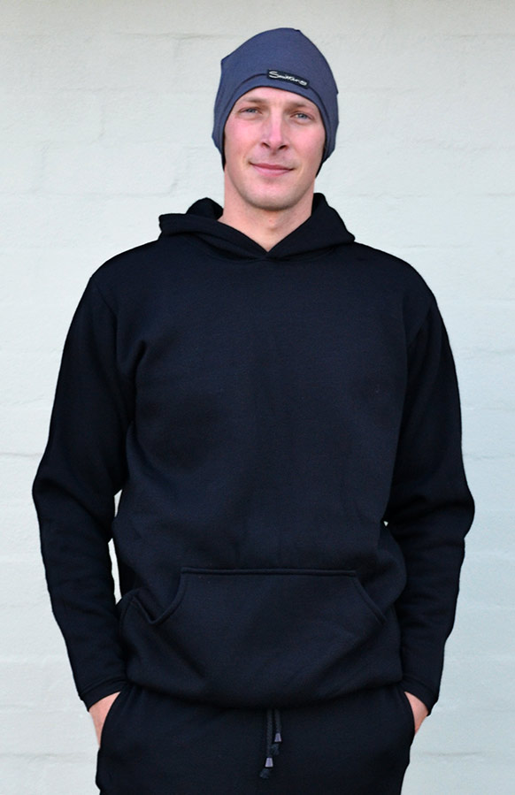 Wool Fleece Hoody (~320g) - Men's 100% Merino Wool Fleece Hoody - Smitten Merino Tasmania Australia