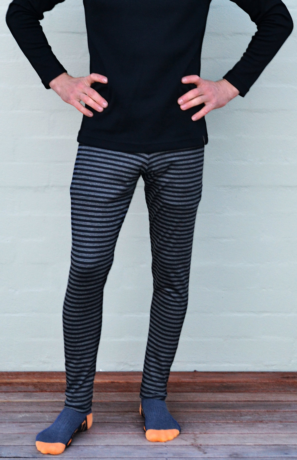 Mens Leggings - 220g - Men's Active and Outdoor Sportswear Thermal Baselayer Leggings - Smitten Merino Tasmania Australia
