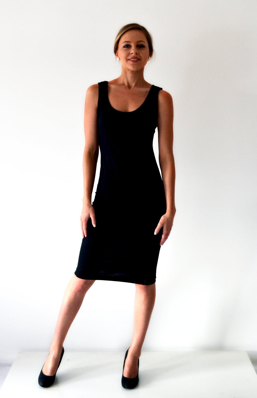 Scoop Dress - Sleeveless - Smitten Merino Tasmania Australia