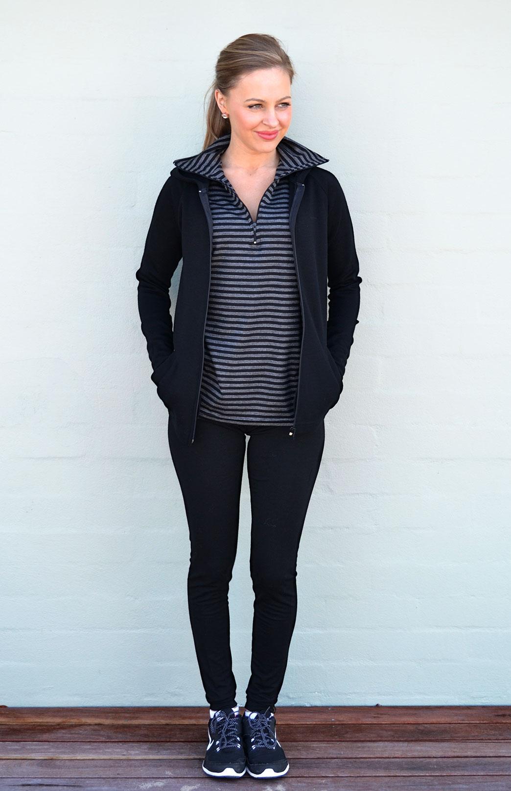 Wool Fleece Hoody Jacket-350g - Women's 100% Merino Wool Fleece Zip Jacket with Hood - Smitten Merino Tasmania Australia