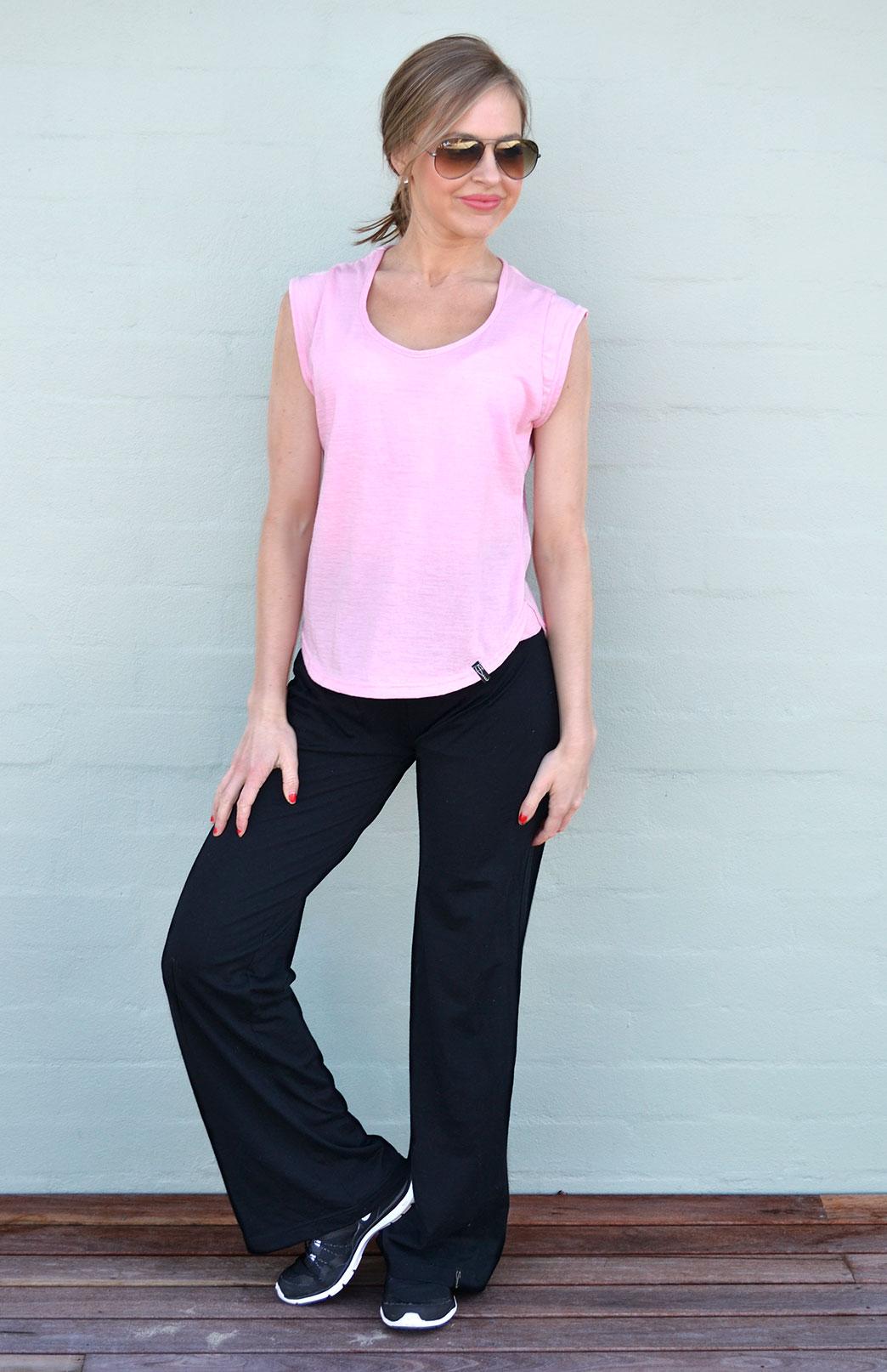 Yoga Pants Women S Black Wool Lightweight Yoga Pants
