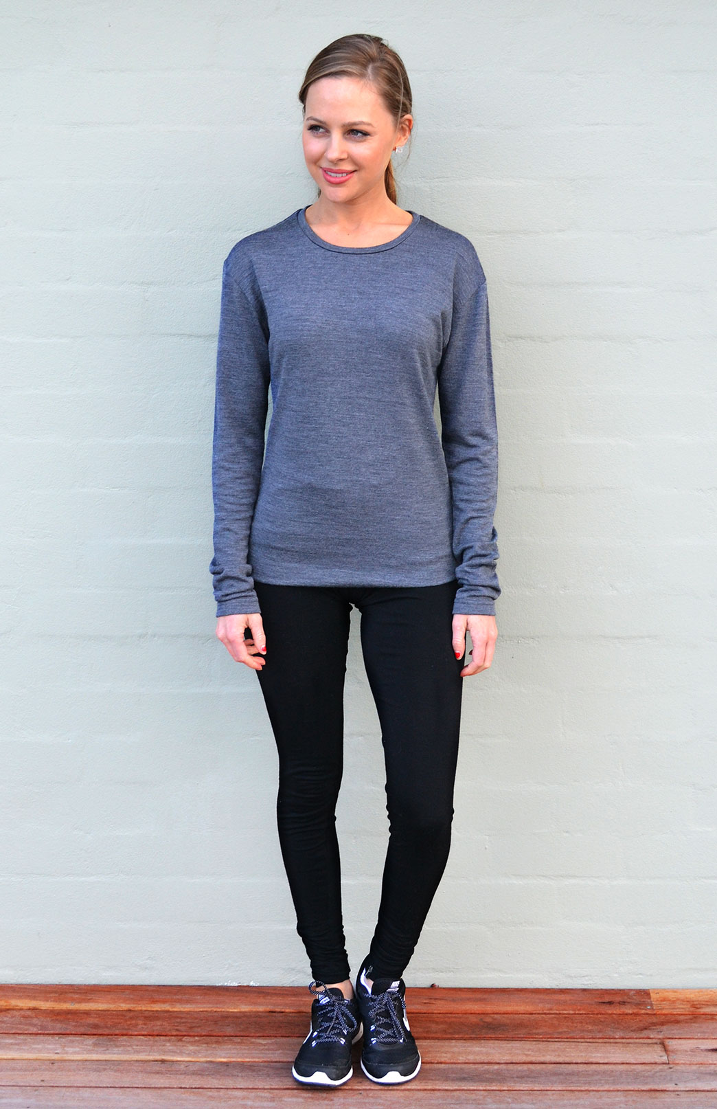 Women's Crew Neck Top - Long Sleeve 240g - Smitten Merino Tasmania Australia