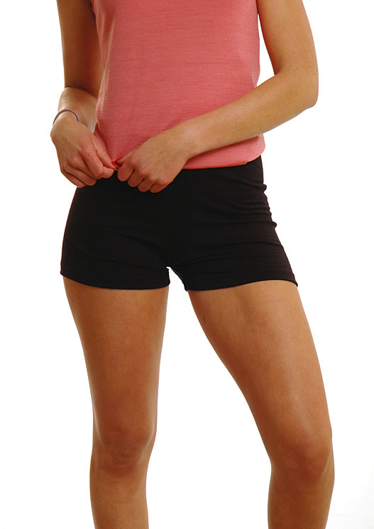 Womens Boxer Shorts in Black