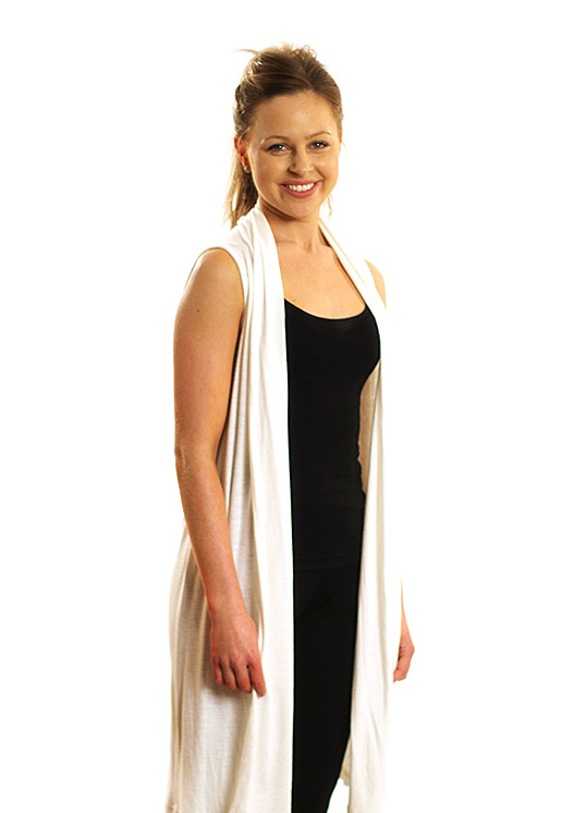 Sleeveless Drape Cardigan - Women's Merino Wool Sleeveless Drape Cardigan - Smitten Merino Tasmania Australia