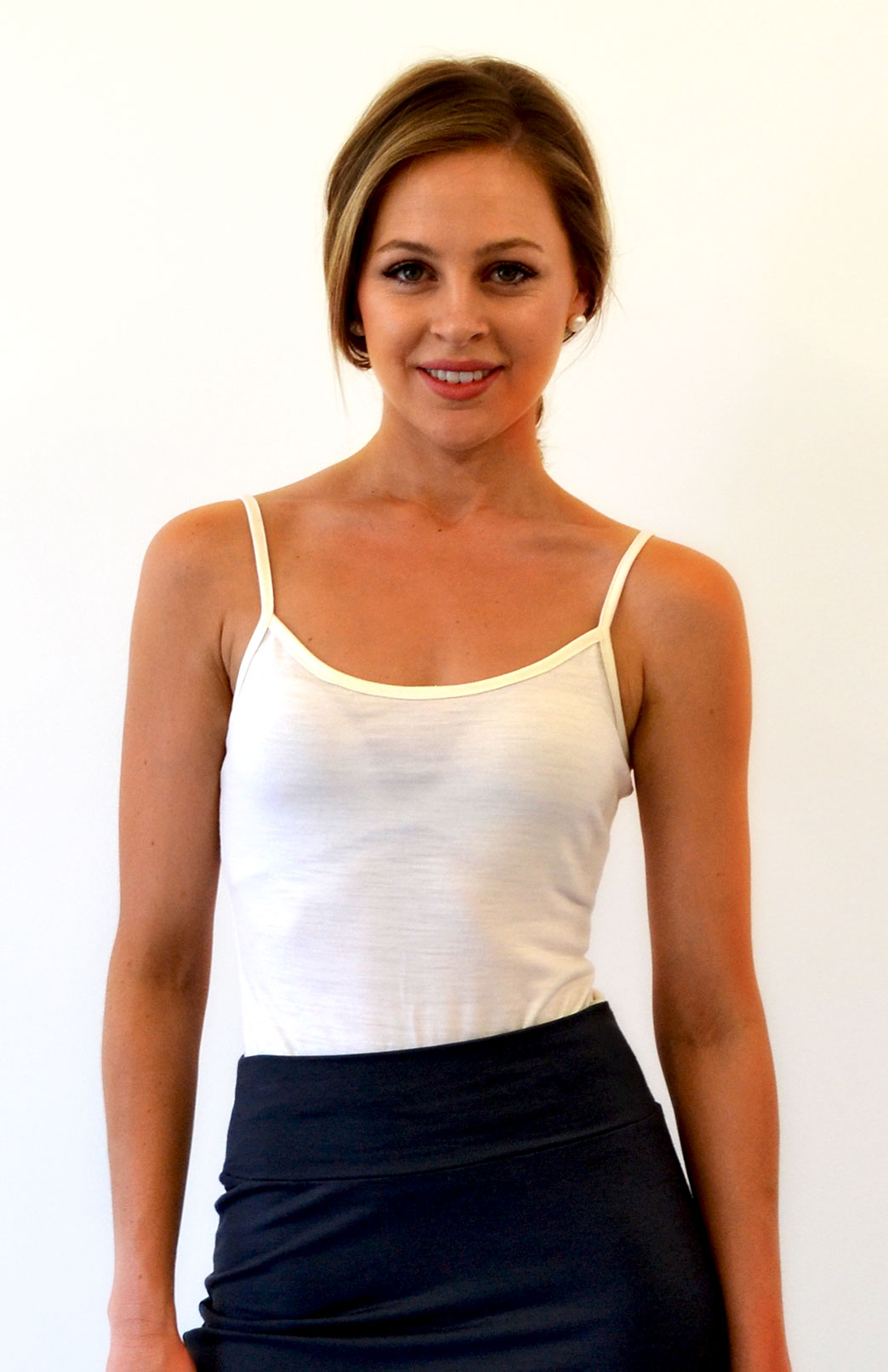 Camisole Top - Women's Wool Cream Camisole Layering Thermal Tank Top - Smitten Merino Tasmania Australia