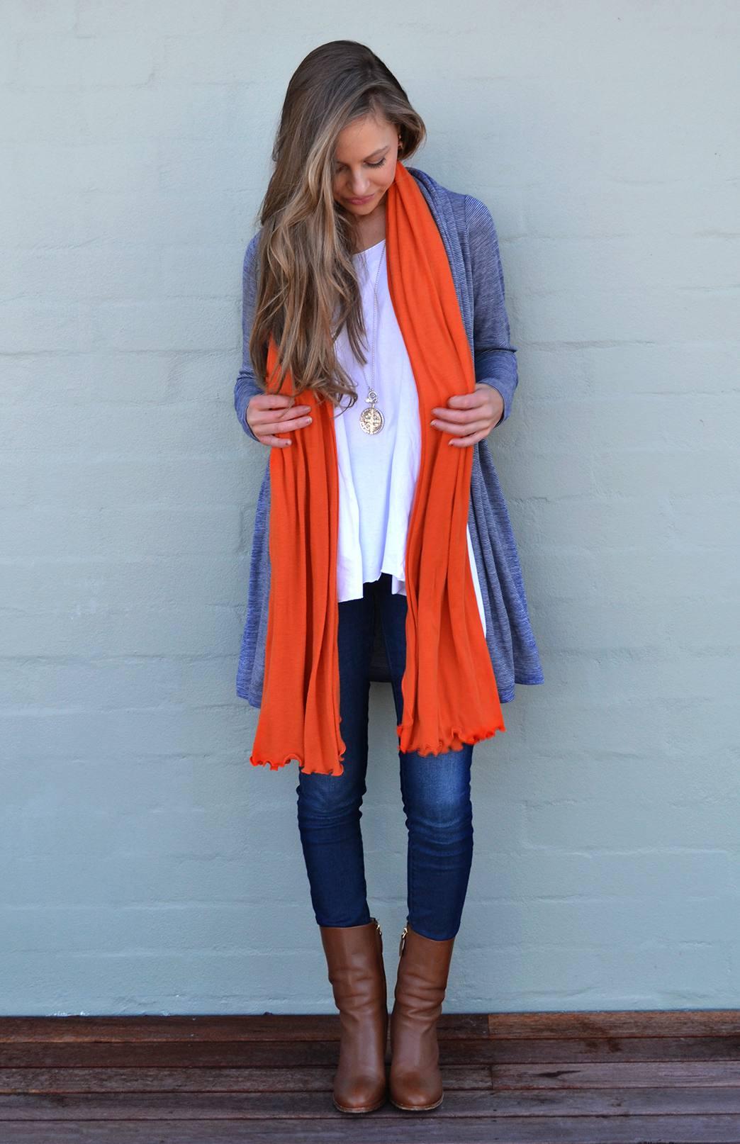 Merino Wool Scarf - Plain - Women's Superfine Merino Wool Classic Wide Scarf - Smitten Merino Tasmania Australia