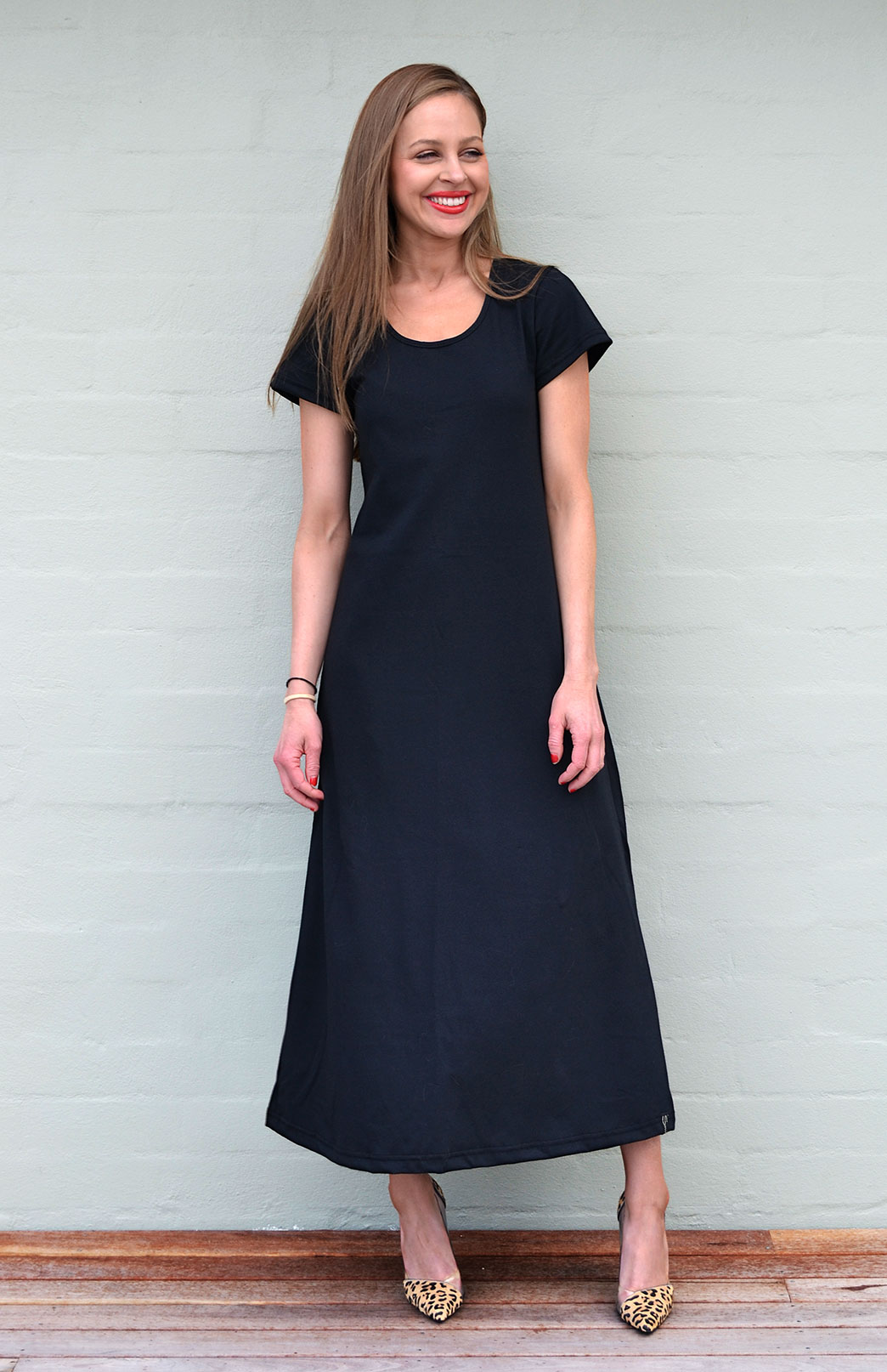 Organic Cotton T Shirt Dress Women S Black Organic