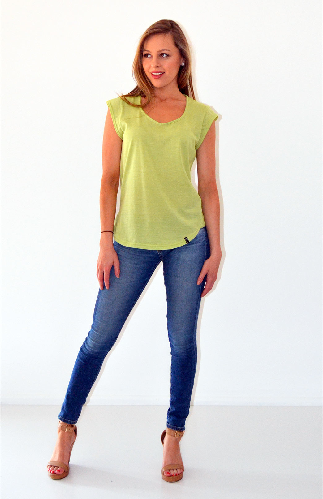 Organic Cotton T-Shirt in Willow Green
