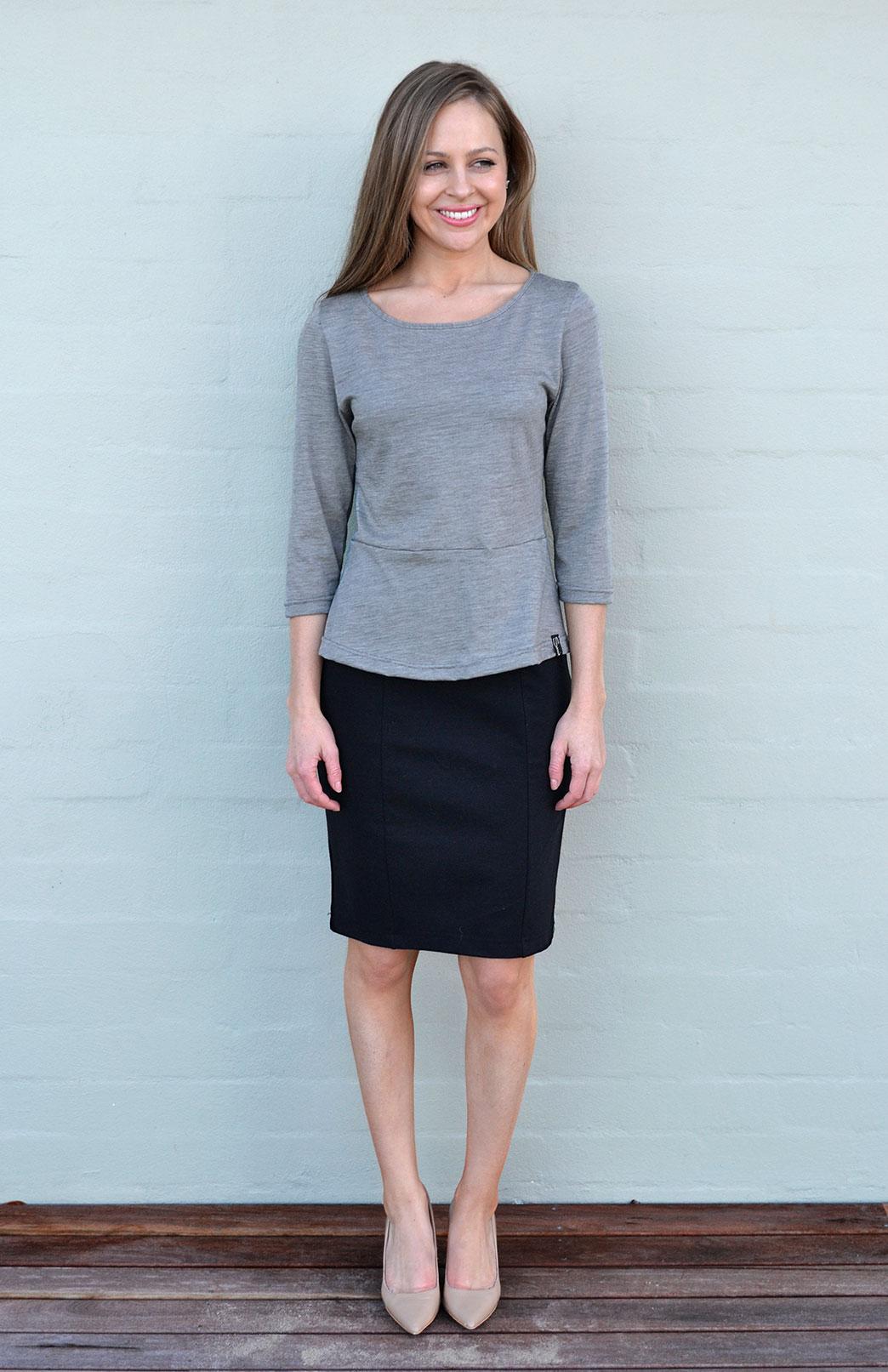 Straight Skirt - Smitten Merino Tasmania Australia