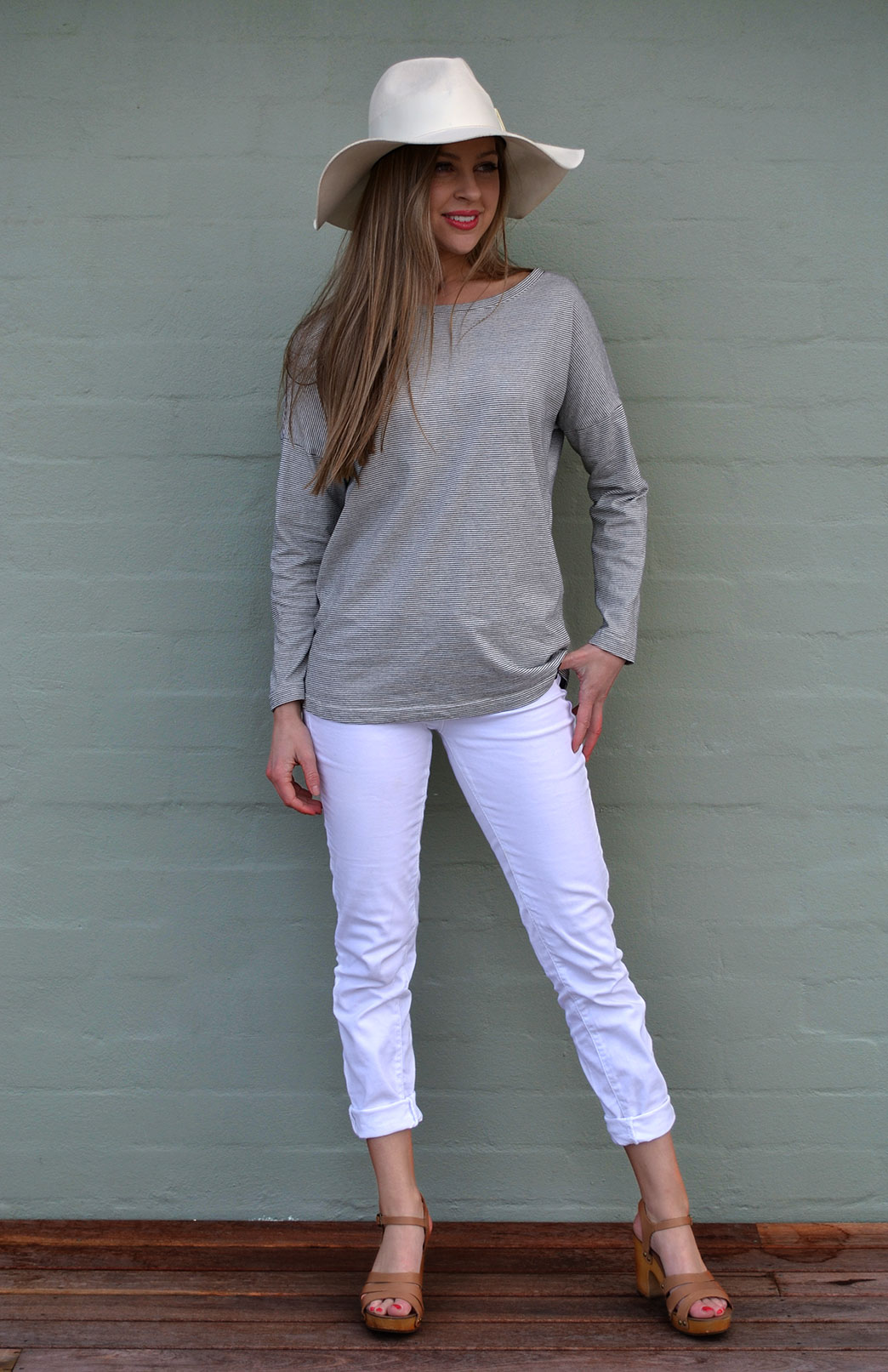 Organic Cotton Long Cruise Top - Smitten Merino Tasmania Australia
