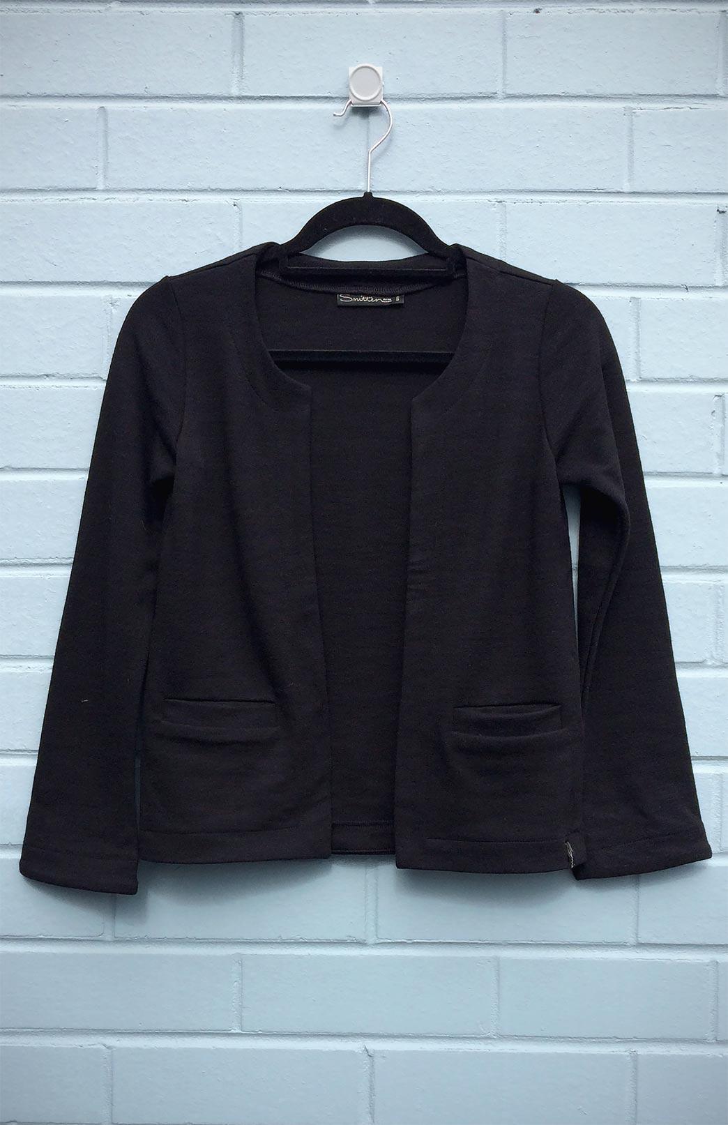 Celeste Jacket (Seconds) - Women's Pure Merino Wool Jacket with open front and placket pockets - Smitten Merino Tasmania Australia